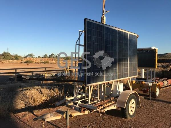 Single Axle Comms Trailer Solar Powered
