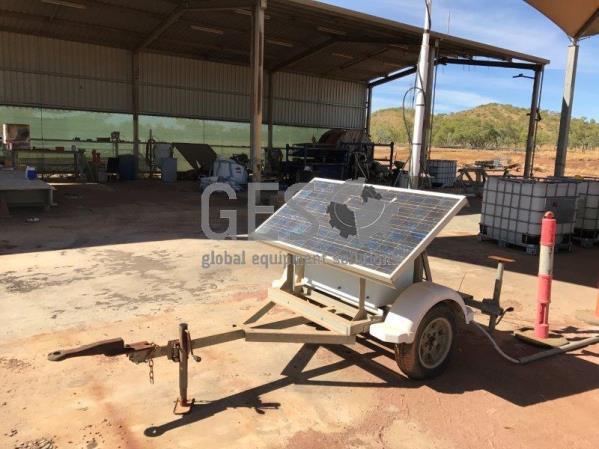 Custom Single Axle Comms Trailer Solar Powered