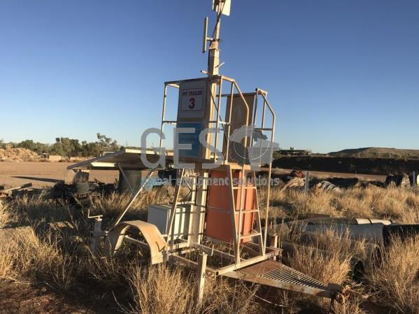 Single Axle Pit Comms Trailer Solar Powered