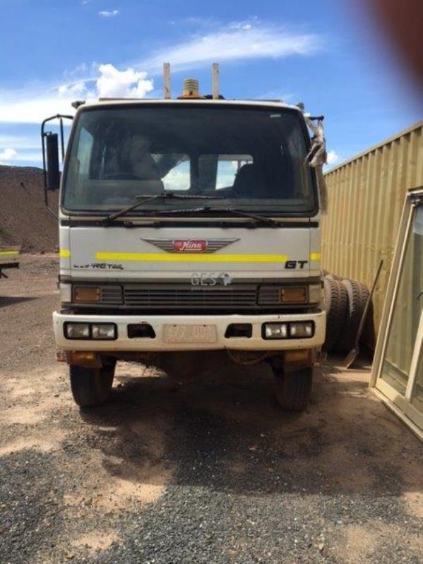 1996 Hino GT3 Tray Truck C/w Crane LT049