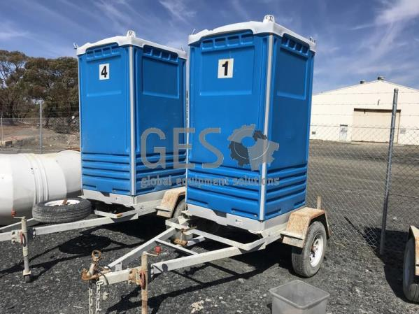 2014 Formit Toilet on Single Axle Trailer x 2 units 1 and 4