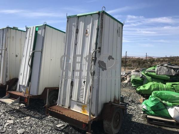 Toilet on Single Axle Trailer x 3 units 5, 6 and 7