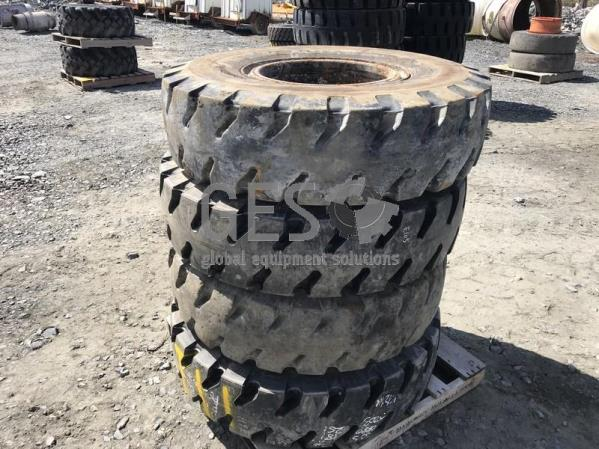 Bridgestone 12.00R20 on rims x 2 NEW 2 Used Pallet T11.