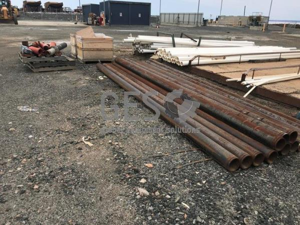 Steel Pipe 15 lengths ~6 mtr x 4 Inch and Support Brackets