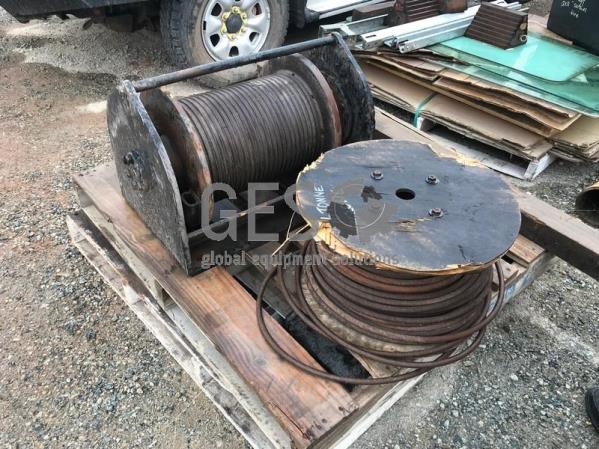 Custom Winch and Drum of Steel Rope Used