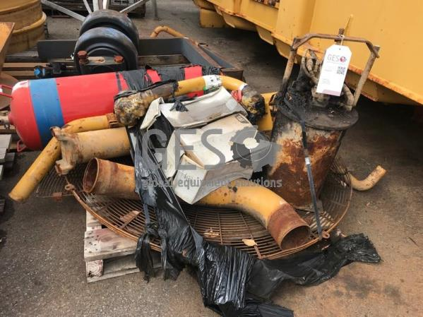 UNRESERVED Caterpillar Pallet of Various parts including AFFF Cylinder & Grease Pot