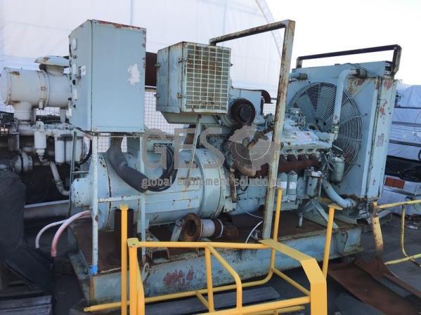 Detroit 415 Volt Generator on skid with Radiator