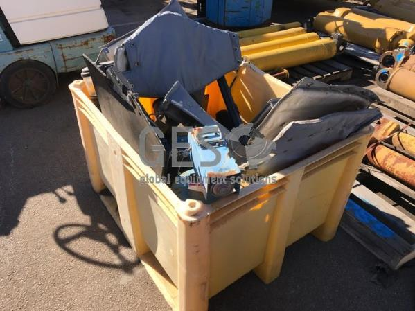 UNRESERVED Crate of Parts including Grease Pot & Exhaust Lagging