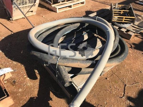 Air and water hoses on pallet Item ID: 3530