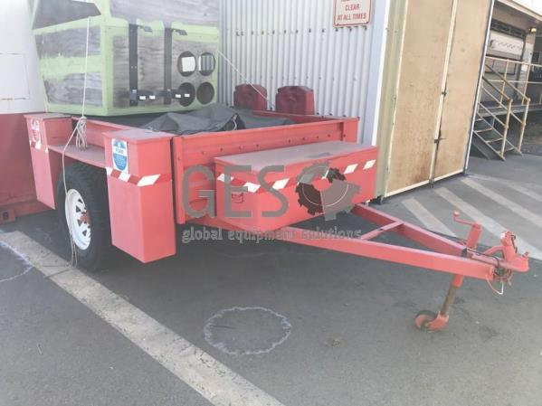 Custom 6x4 Single Axle Fire Fighting Trailer unregistered