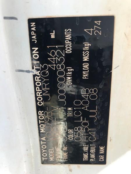 2008 Toyota VDJ79R Landcruiser V8 Tray Back LV862 image 11