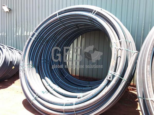 Damos Poly Pipe 110 mm PN12.5 SDR13.6 Blue Stripe x 4 Rolls