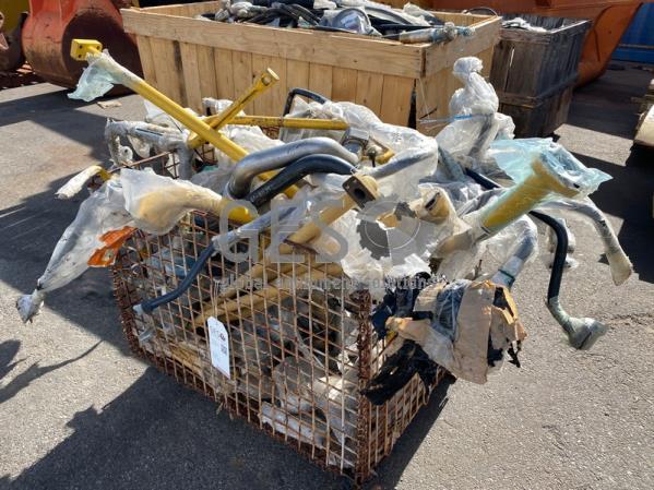 Komatsu Crate of Original Hydraulic & Exhaust Pipes Un Used ItemID_4608