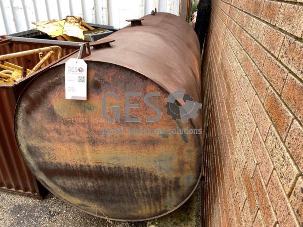 Custom Waste Oil Tank on feet USED 2.4 m Long  x 1.1 Diameter